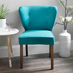 Peacock Blue Dylan Caribbean Accent Chair