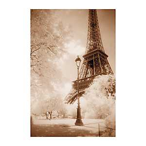 Sepia Eiffel Tower Canvas Art Print