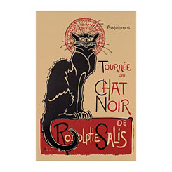Chat Noir Canvas Art Print
