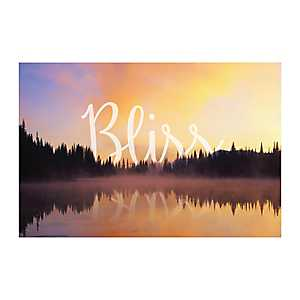Bliss Sunset Nature Canvas Art Print