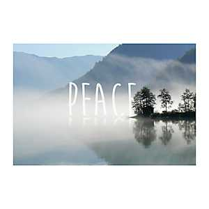 Peace Lakeside Cabin Canvas Art Print