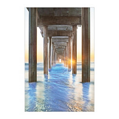 Under the Boardwalk Canvas Art Print