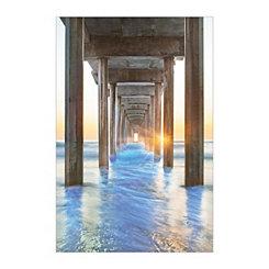 Under the Boardwalk Canvas Art Print
