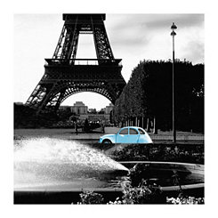Tower and Blue Canvas Art Print