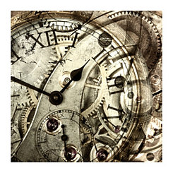 Vintage Clock Canvas Art Print
