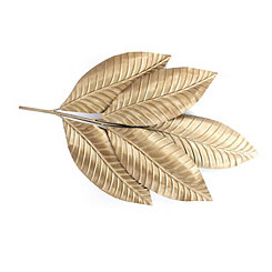Gold Metal Leaf Wall Plaque