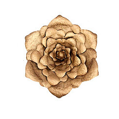 Gold Metal Flower Wall Plaque