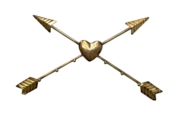 Gold Crossed Arrows Metal Wall Art