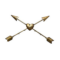 Gold Crossed Arrows Metal Wall Art