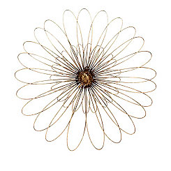 Gold Metal Flower Wall Decor