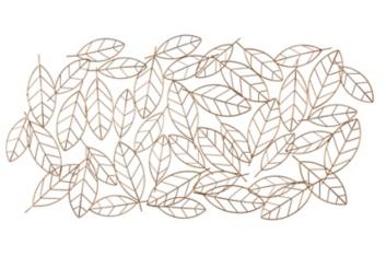 Golden Leaves Metal Wall Art