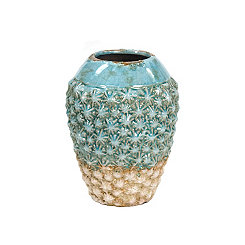 Blue and Sand Terracotta Barnacle Vase