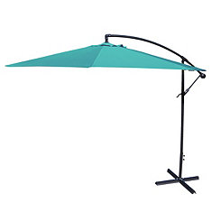 Aruba Blue Offset 10 ft. Outdoor Umbrella