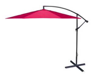 Red Offset 10 ft. Outdoor Umbrella