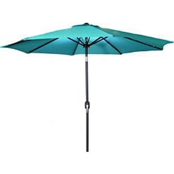 Aruba Blue 9 ft. Steel Outdoor Umbrella