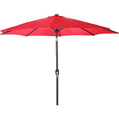 Red 9 ft. Steel Outdoor Umbrella