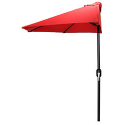 Red Steel Outdoor Half Umbrella