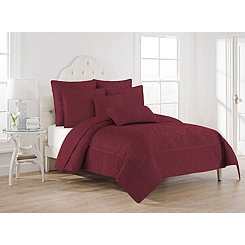 Cordovan Hannah 3-pc. Full/Queen Quilt Set