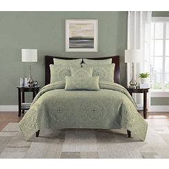 Celedon Pam Medallion 3-pc. Full/Queen Quilt Set