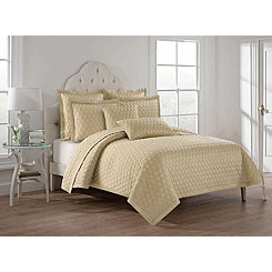Almond Lola Diamonds 3-pc. Full/Queen Quilt Set