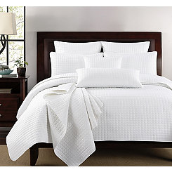 White Box Check 3-pc. King Quilt Set
