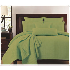 Celedon Box Check 3-pc. King Quilt Set