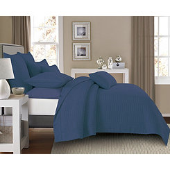 Indigo Dylan Rectangles 3-pc. King Quilt Set