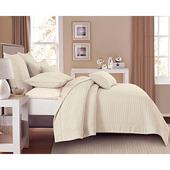 Bone Dylan Rectangles 2-pc. Twin Quilt Set