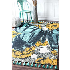 Blue Butterfly Thomas Paul Area Rug, 5x8