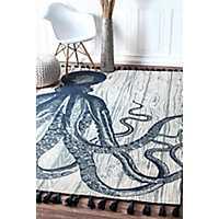 Dark Octopus Thomas Paul Area Rug, 5x8