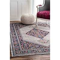 Dortha Vintage Medallion Area Rug, 5x7