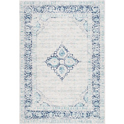 Light Blue Pauley Vintage Area Rug, 5x8