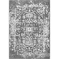 Charcoal Shaina Vintage Tribal Area Rug, 5x7