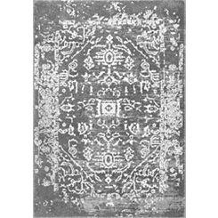 Charcoal Shaina Vintage Tribal Area Rug, 5x7