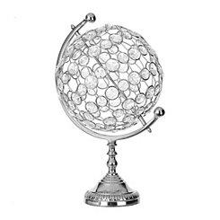 Crystal Stones Metal Globe