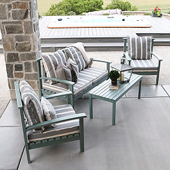 Ocean Gray Acacia Wood Outdoor Patio Set, Set of 4
