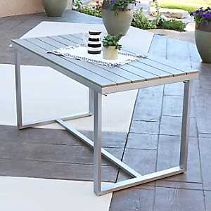Gray All-Weather Outdoor Dining Table