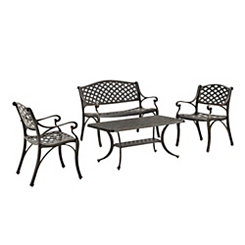 Bronze Cast Aluminum Patio Set, Set of 4