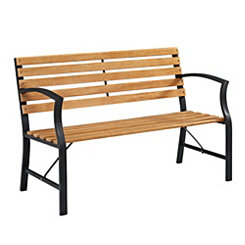 Wood Slat Park Bench