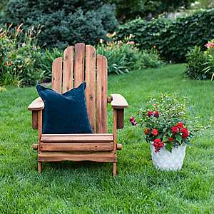Brown Acacia Folding Adirondack Chair