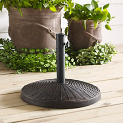 Round Bronze Woven Umbrella Base