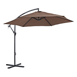 Brown Cantaliever Patio Umbrella