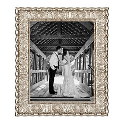 Ornate Carved Silver Picture Frame, 11x14