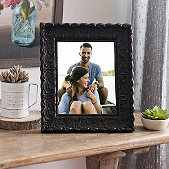 Ornate Carved Black Picture Frame, 8x10