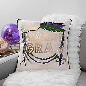 Mardi Gras Mask Pillow