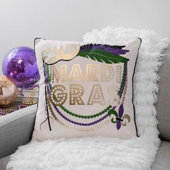 Mardi Gras Mask Pillow