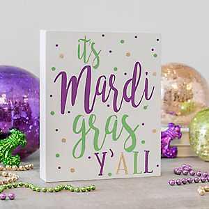 It's Mardi Gras Y'all Word Block