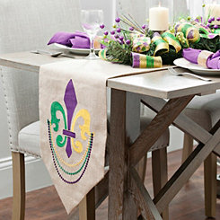 Burlap Fleur-de-lis Table Runner