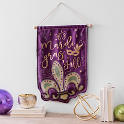 It's Mardi Gras Y'all Hanging Fabric Banner