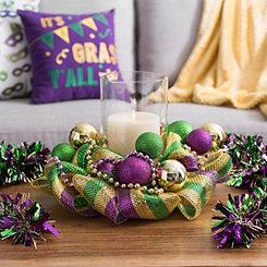 Mardi Gras Hurricane Bead with Ornaments